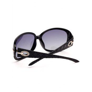 Rhinestone Decorated Anti UV Sunglasses -  PHOTO BLACK