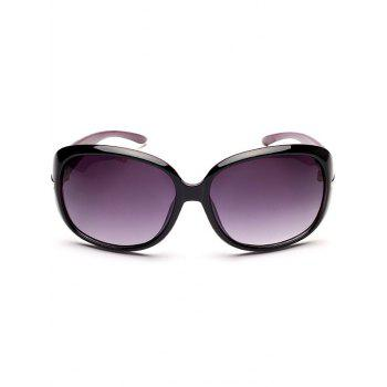 Rhinestone Decorated Anti UV Sunglasses -  BLACK PURPLE