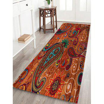 Coral Fleece Paisley Pattern Door Entrance Rug