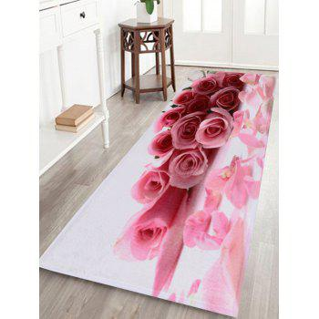 Coral Velvet Water Absorption Rose Area Rug