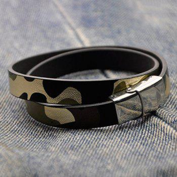 Camouflage Infinity Faux Leather Bracelet - GREEN
