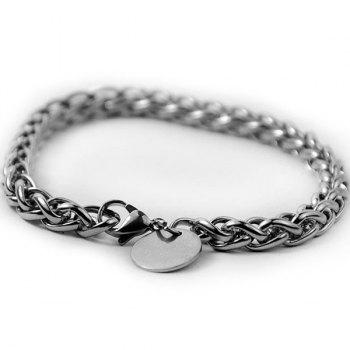 Round Link Stainless Steel Bracelet
