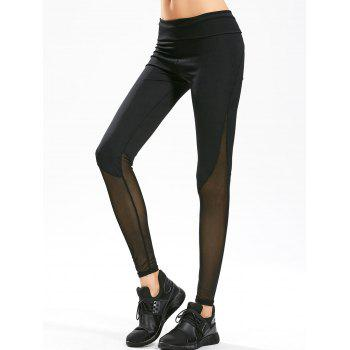 Sheer Mesh Panel Gym Leggings