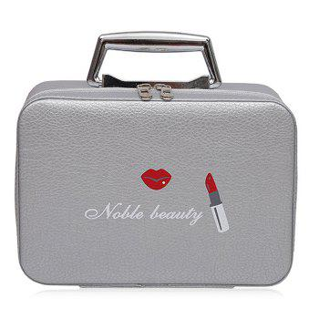 Top Handle PU Leather Makeup Box