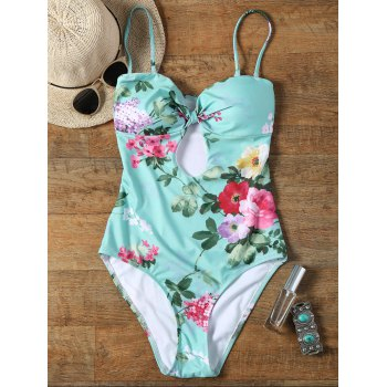 Keyhole Floral One Piece Swimsuit