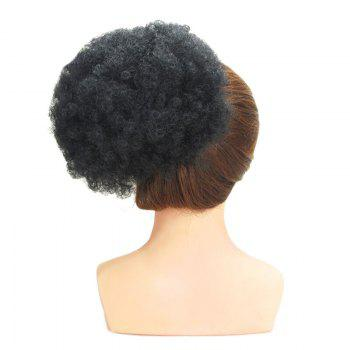 Shaggy Heat Resistant Synthetic Afro Kinky Curly Hair Bun - BLACK