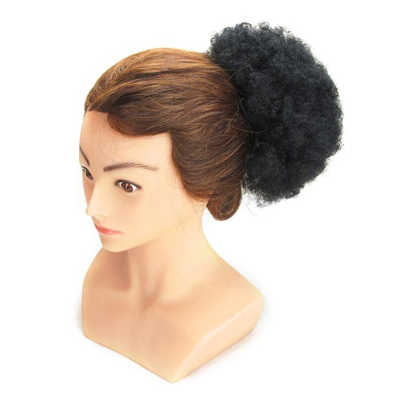 Shaggy Heat Resistant Synthetic Afro Kinky Curly Hair Bun - Noir