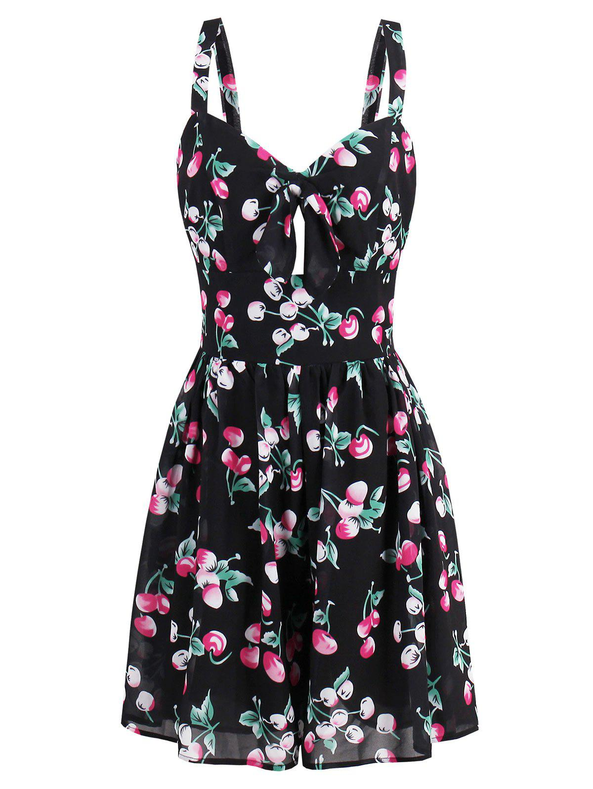 Mini Printed Flare Summer Dress - COLORMIX M