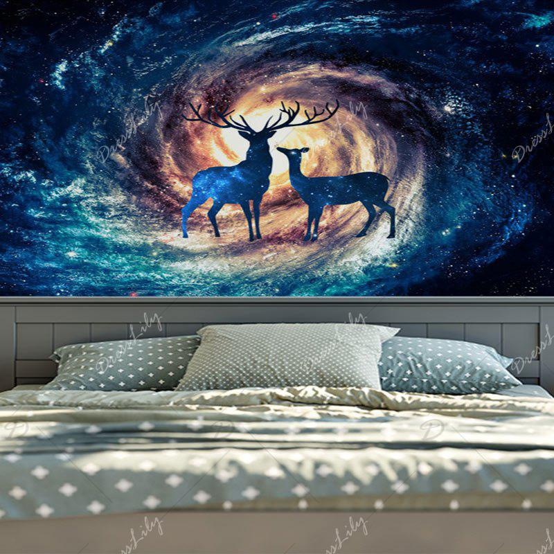 Home Wall Hanging Star Sky Deer Print Tapestry - TEXTURE D'ETOILE W59 INCH * L79 INCH