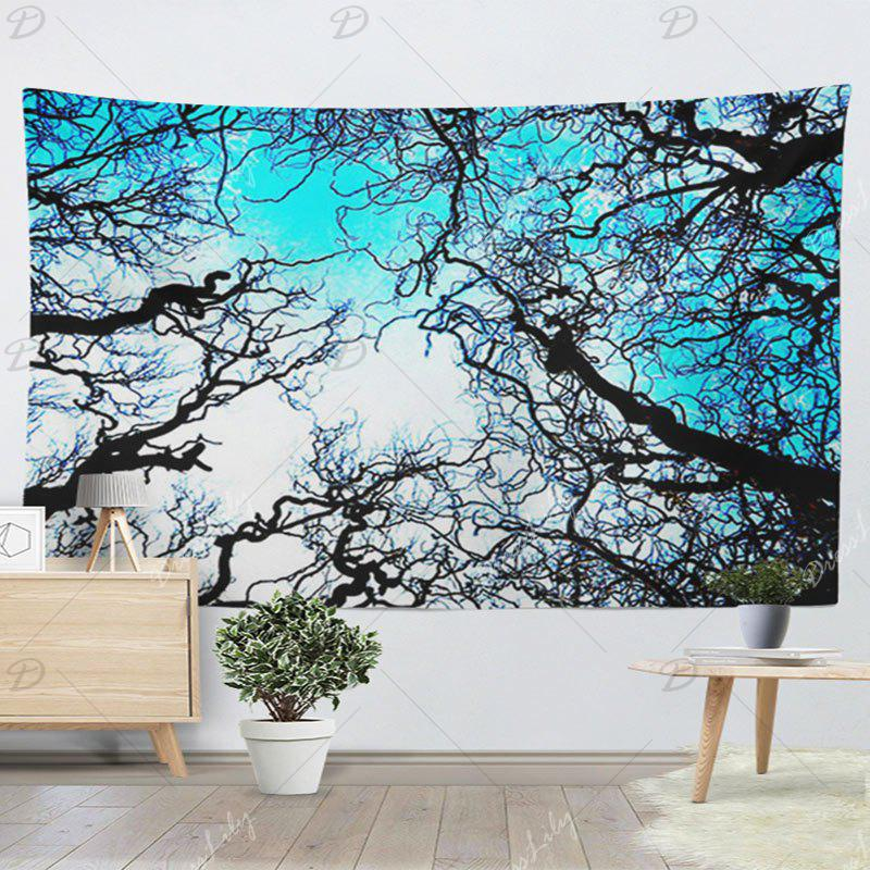 Wall Hanging Forest Tree Printing Tapestry - BLUE W79 INCH * L59 INCH