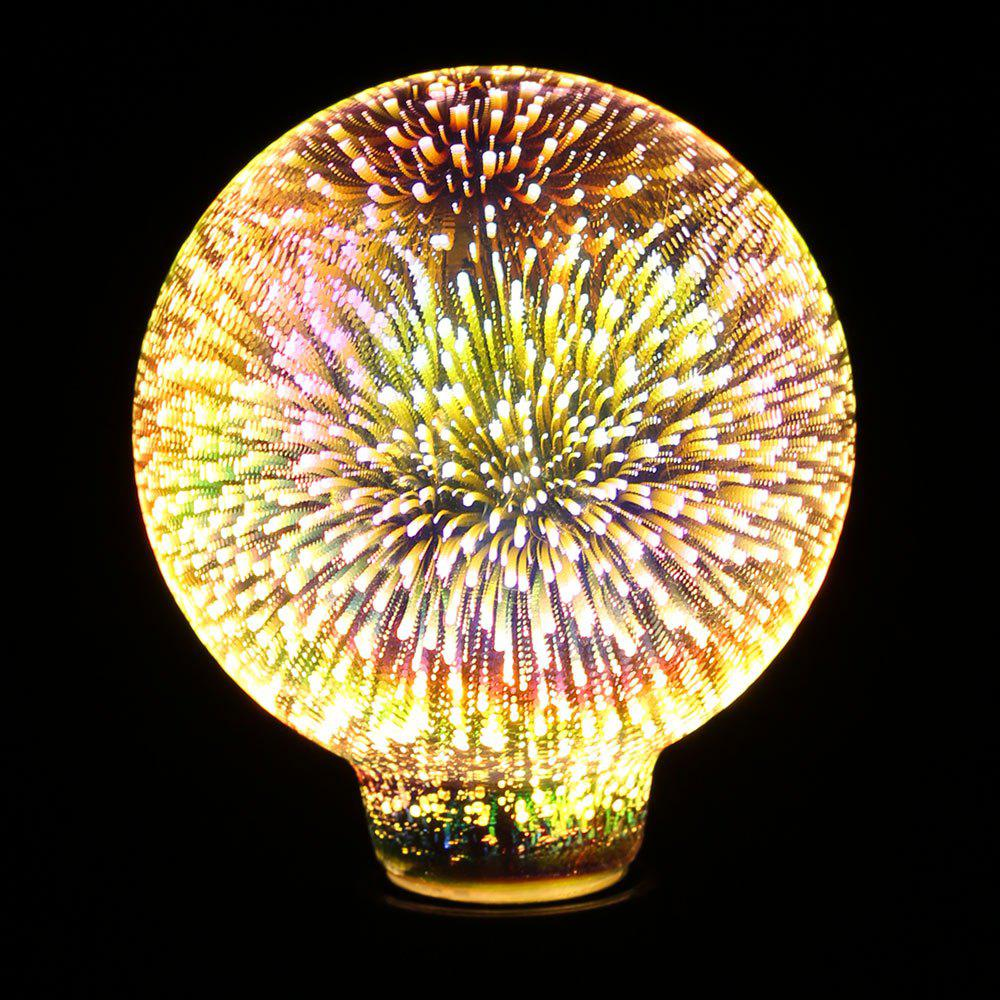 Colorful Fireworks 3D Glass LED Night Light Ampoule décorative - Coloré E27