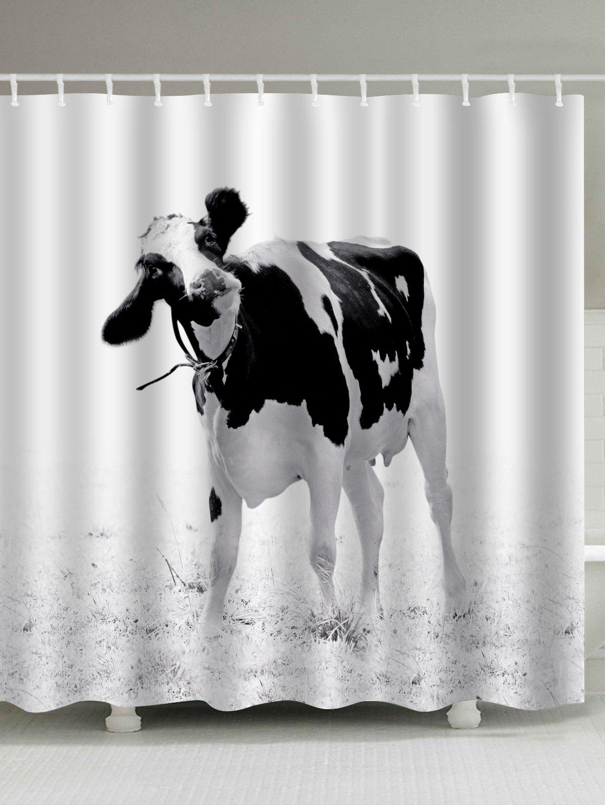 Water Resistant Milk Cow Print Shower Curtain flower butterfly mantis water resistant shower curtain