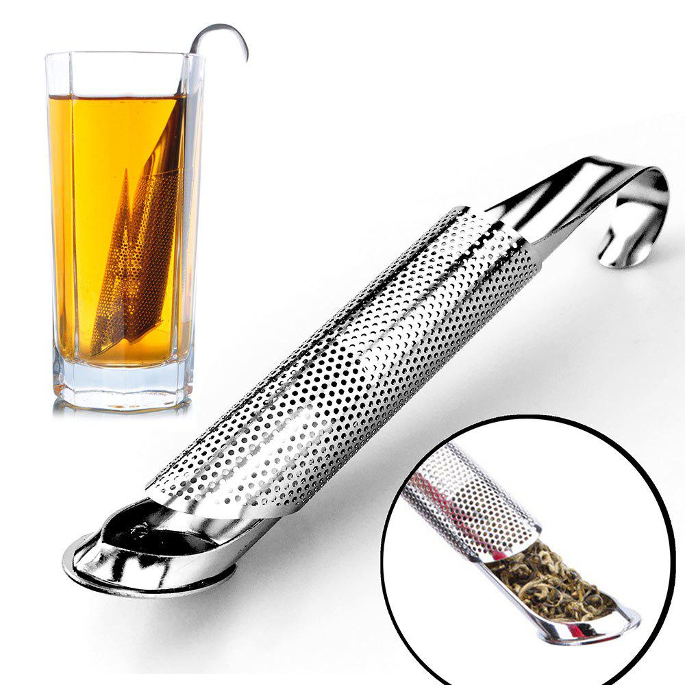 Stainless Steel Tobacco Pipe Shape Tea Strainer Filter - STAINLESS STEEL