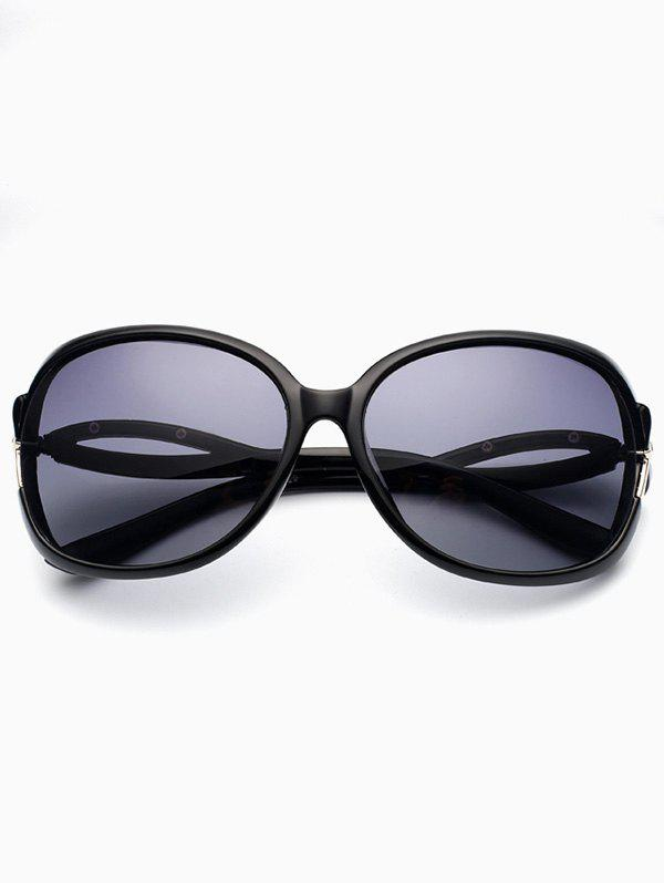 Hollow Cut Anti UV Reflective Sunglasses - PHOTO BLACK