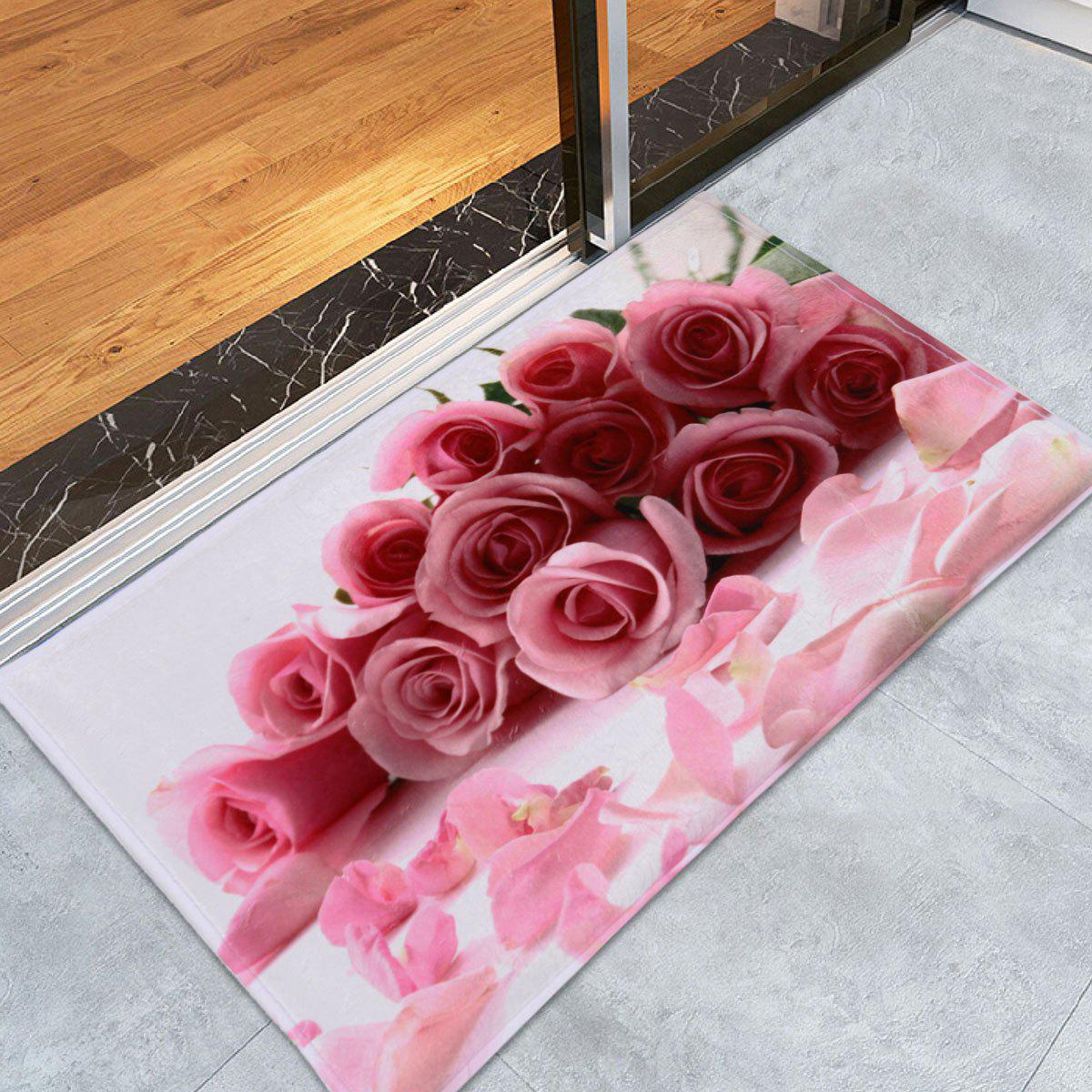 Coral Velvet Water Absorption Rose Area Rug coral velvet water absorption woodgrain carpethref page 1
