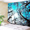 Wall Hanging Forest Tree Printing Tapestry - BLUE W59 INCH * L59 INCH