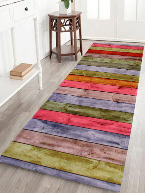 2018 Non Slip Wood Grain Absorbent Bathroom Rug Colormix W Inch L