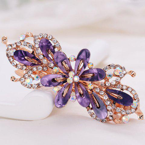 Barrette en Alliage Orné de Crystal Fantaisies - Pourpre