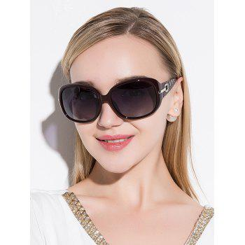 Rhinestone Decorated Anti UV Sunglasses