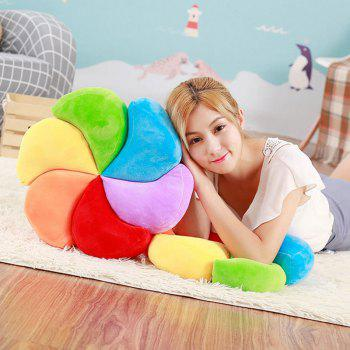 Stuffed Toy Rainbow Pinwheel Throw Pillow -  COLORFUL