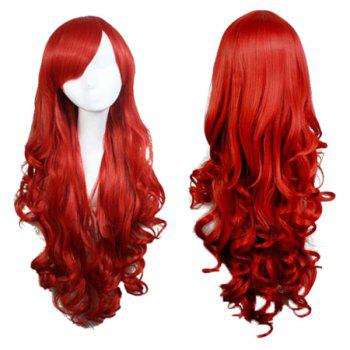 Long Inclined Bang Wavy Synthetic Cosplay Anime Wigs
