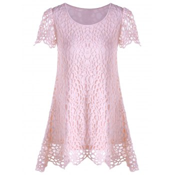 Overlay Asymmetrical Lace Panel T-shirt
