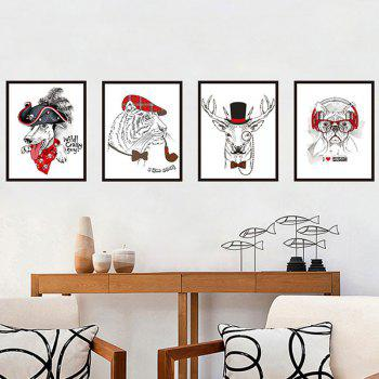 Lion Dog Deer Pattern Wall Stickers