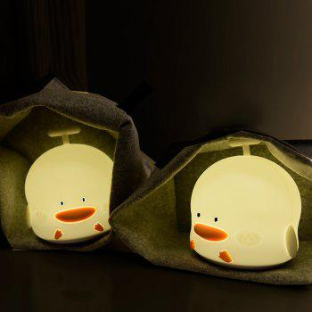 Duck Shape Rechargeable Touch Sensor Night Light with Sounding - WHITE