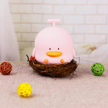 Duck Shape Rechargeable Touch Sensor Night Light with Sounding - PINK