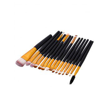 15Pcs Face Eye Makeup Brushes Set