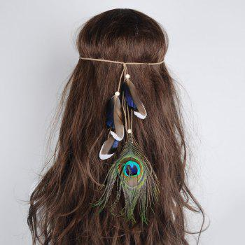 Bohemian Indian Peacock Feather Hair Accessory