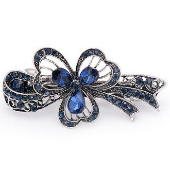 Artificial Sapphire Flower Hollow Out Barrette