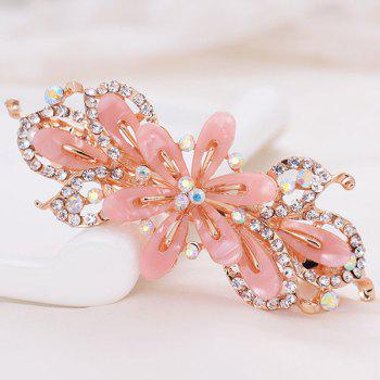 Faux Crystal Flower Alloy Hollow Out Barrette