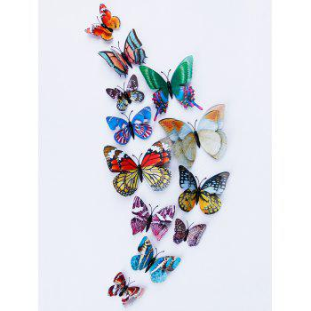 3D Double Layer Luminous Butterfly Wall Stickers