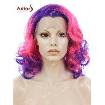 Adiors Medium Side Swept Bang Curly Colormix Lace Front Synthetic Wig
