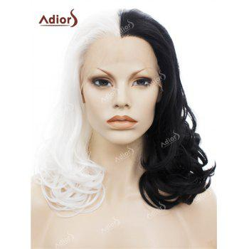 Adiors Long Side Swept Bang Fluffy Curly Lace Front Synthetic Wig