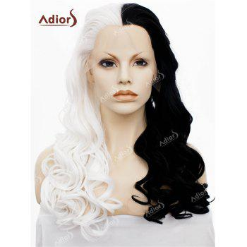 Adios Long Free Part Shaggy Colormix Curly Lace Front Synthetic Wig