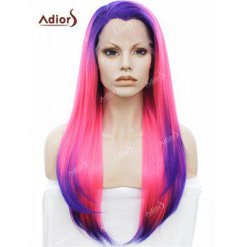 Adiors Free Part Long Colormix Silky Straight Lace Front Synthetic Wig