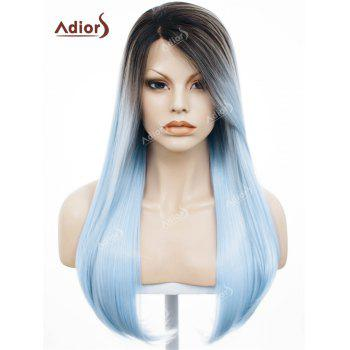 Adiors Long Free Part Silky Straight Ombre Lace Front Synthetic Wig