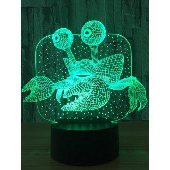 Color Changing 3D Visual LED Crab Night Light - TRANSPARENT