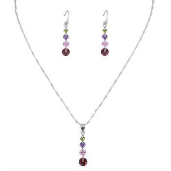 Rhinestone Collarbone Earring and Necklace Set