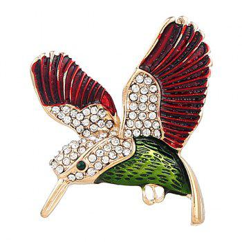 Rhinestone Fly Bird Shape Brooch