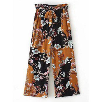 Floral Palazzo Pants with Pockets