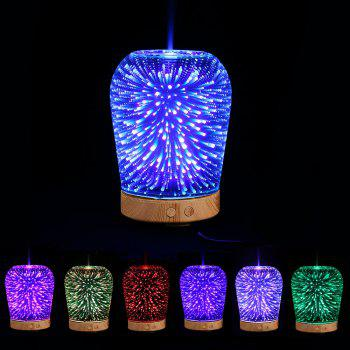Aromatherapy Oil Diffuser 3D Color Change LED Light Humidifier - COLORFUL COLORFUL