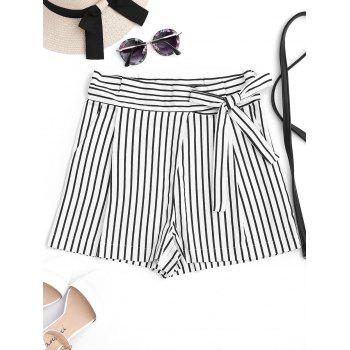 Striped High Waisted Bowknot Shorts