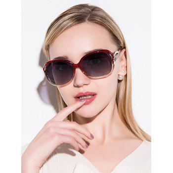 Hollow Cut Anti UV Reflective Sunglasses - TEA-COLORED TEA COLORED