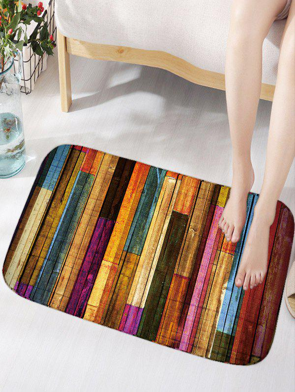 Colorful Stripes Wood Grain Flannel Bath Rug hot sale round neck creative 3d zipper street scenery print rib hem men s long sleeves sweatshirt