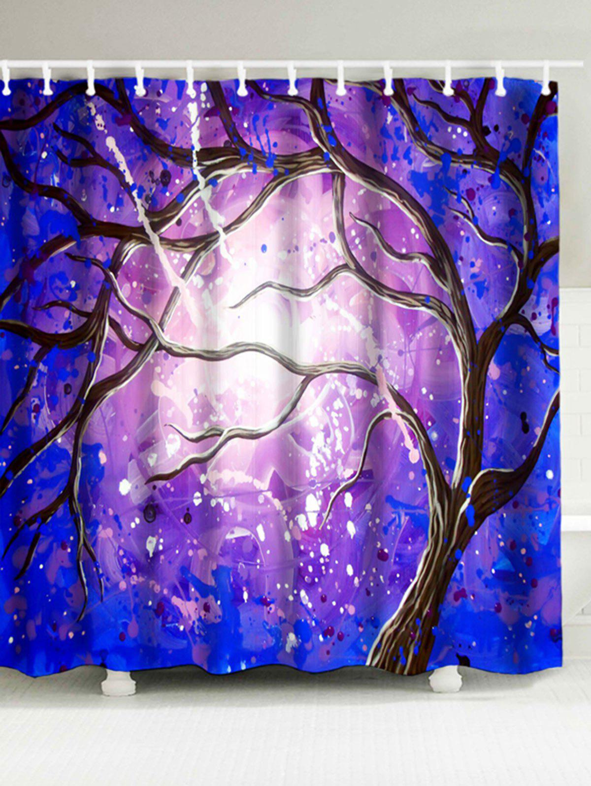 Magic Tree Printing Waterproof Shower Curtain magic growing tree