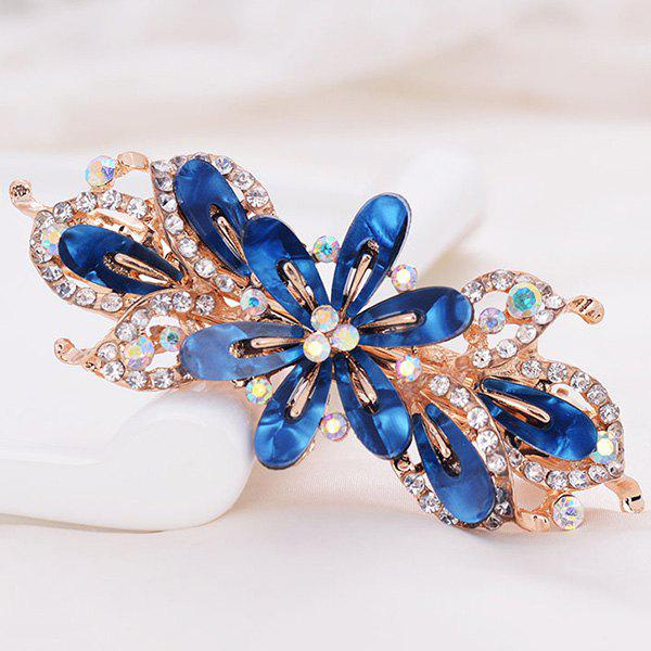 Faux Crystal Flower Alloy Hollow Out Barrette hollow out round faux crystal metal necklace