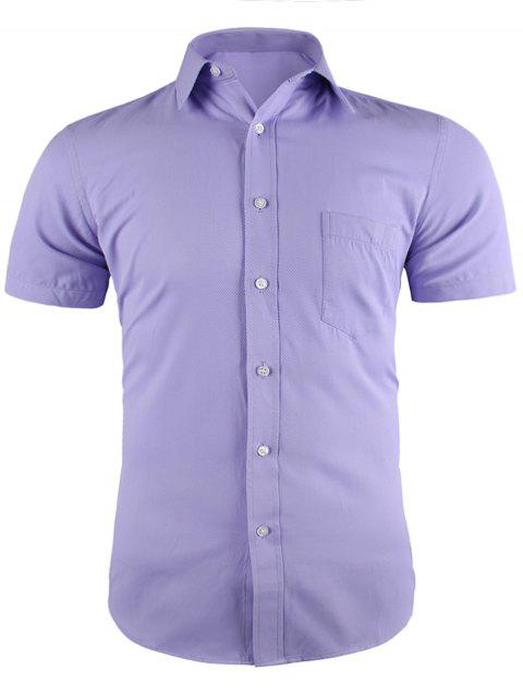 Pocket Short Sleeve Business Shirt - RADIANT 39